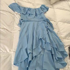 Blue high low Windsor dress